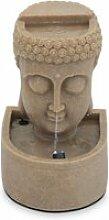 Fontaine tête de bouddha  pierre naturelle gris
