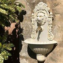 Fontaine Tête de Lion Murale de Jardin Robinet