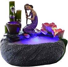 Fontaines décoratives Résine Fleur Fée Figure