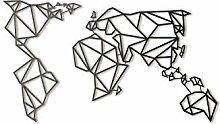 Fortuna Carte du Monde en métal Décoration
