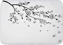 FOURFOOL Tapis de Bain Antidérapant,Branche de