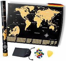 FOX Elements Carte du monde à gratter - Noir