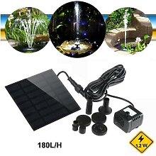 FOXNOVO – pompe à eau solaire 7V, 1.2W, 180L/H,