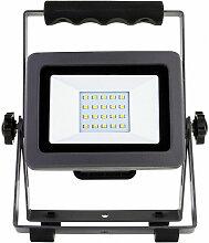 FP - Projecteur à LED rechargeable 20W noir