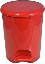 FRANDIS P350102 Poubelle 5L Ronde Plastique Rouge