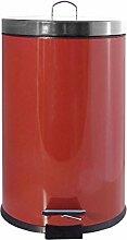 Frandis - p354054 - Poubelle à pédale 20l rouge
