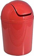 FRANDIS P356012 Poubelle Boule Plastique Rouge Ø
