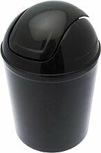 FRANDIS P356019 Poubelle Boule Plastique Noir Ø