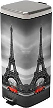 FRANDIS-Poubelle 30L PARIS RETRO