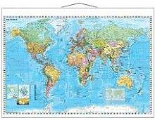 Franken Carte du monde, laminé, (l)1.370 x (H)970