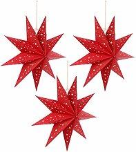 FRCOLOR 3Pcs Papier Étoile Lanterne Abat-Jour