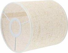 FRCOLOR Abat-jour en tissu pour lampe tambour,