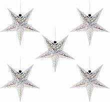 FRCOLOR Argent Papier Étoiles Abat- Jour 5