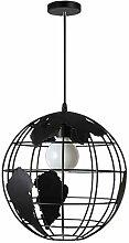 FRCOLOR Monde Carte Pendentif Lampe Style