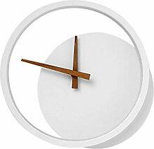 FRCOLOR Mur de Fer Lumière avec Horloge Blanc