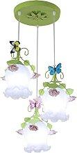 FREENN Lustre Suspension Floral à 3 Lampes