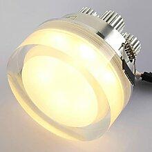 FREENN Plafonnier LED Cristal, 7W Moderne Lampe de