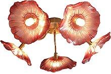 FREENN Plafonnier LED Moderne, 5 Flammes Cristal