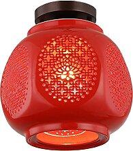 FREENN Plafonnier LED Rétro 10W Rouge Éclairage