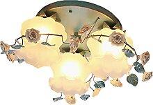 FREENN Plafonnier LED Rétro, 3 Flammes Éclairage