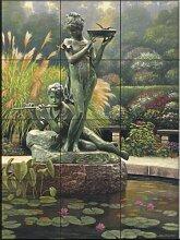 Fresque murale en carrelage - La fontaine Li- par