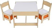 Frifer Table 3 en 1 en bois pour enfant et 2