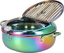 Friteuse, poêle à frire en acier inoxydable pour