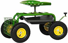 Froadp Chariot de Jardin Siège à roulettes