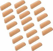 Frolahouse Lot de 20 poignées de tiroir en bois