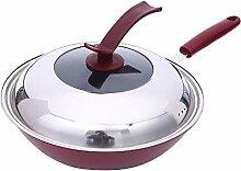 Fry Chef de Pan classique Iron Wok antiadhésif