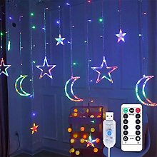 FSDELIV Rideau LED Fairy Light Star Lune -