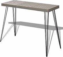 FTVOGUE- Table de Console en Acier et MDF Meuble
