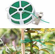Fugift 50 m de câble torsadé pour plantes avec