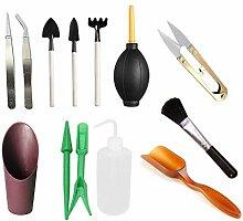 Fugift Lot de 13 mini outils de jardinage à main