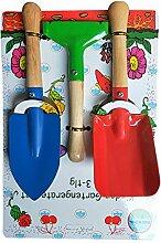 Fugift Lot de 3 mini pelles de jardin colorées