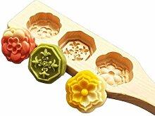 Fugift Moule à gâteau de lune en bois - Outil de