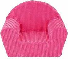 Fun house fauteuil club cotele bleu en mousse pour