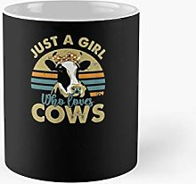 Funny I'm Just A Girl Who Loves Cows Cow