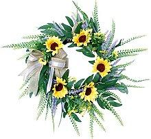 FunPa Guirlande De Mariage Sunflower Lavande Soie