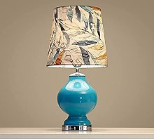 FURNITURE Blue Glass Table Lamp Desk Light