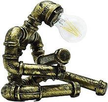 FURNITURE Iron Art Pipe À Eau Lumière de Bureau