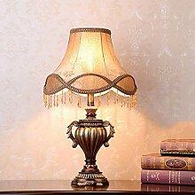 FURNITURE Lampe de Table Abat-Jour Marron Lampe À