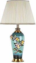 FURNITURE Lampe de Table Nouveau Chinois Émail