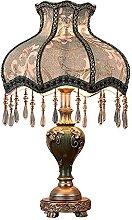 FURNITURE Lampe de Table Pays Rétro Bleu Motif