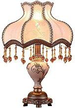 FURNITURE Lampe de Table Tissu Blanc Motif de
