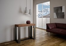 FUTURA ART table console extensible bois massif
