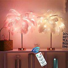 fuxiste Lampe de table à LED en forme de plume -