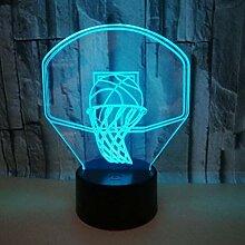 Fveng But De Basket-Ball 3D Lampe De Table LED 3D