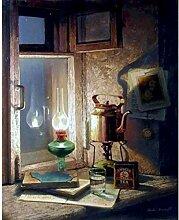 FVeng LIN Carpet Peinture par Chiffres Retro