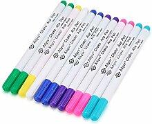 Fydun Lot de 12 stylos textiles 7 couleurs non